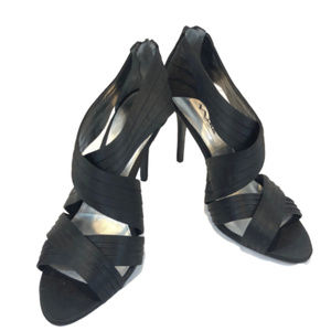 Nina New York Black Open Toe Heels - 9M - NEW